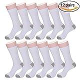 Mens Dress Socks Black&White Casual Women and Men Dress Socks for Business Long Performance 6-8,9-10,11-12