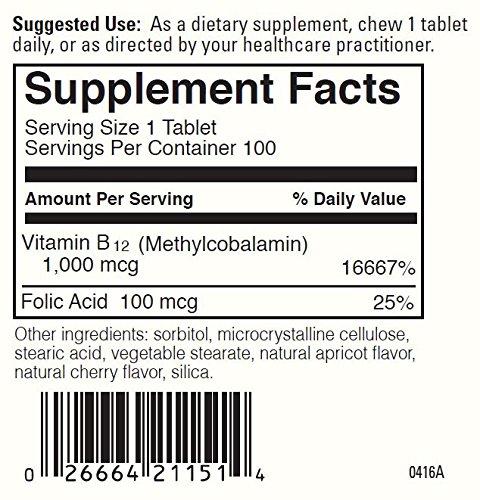 DaVinci Laboratories Chewable B12-mc, 100 Count by DaVinci Laboratories of Vermont (Image #2)