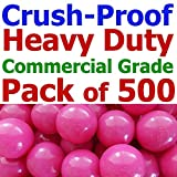My Balls Pack of 500 Jumbo 3'' Rose-Red Color Commercial Grade Ball Pit Balls - Air-filled Crush-Proof in 5 Colors Phthalate Free BPA Free PVC Free