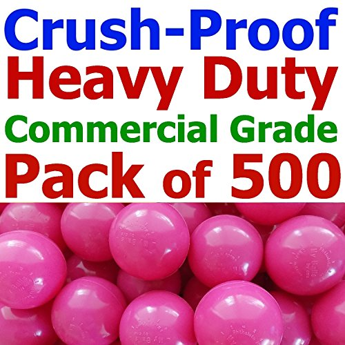 My Balls Pack of 500 Jumbo 3'' Rose-Red Color Commercial Grade Ball Pit Balls - Air-filled Crush-Proof in 5 Colors Phthalate Free BPA Free PVC Free by My Balls