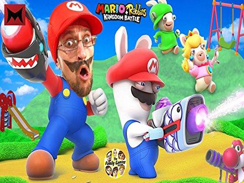 Super Hero Mario Vs  Playground Rabbids Skit