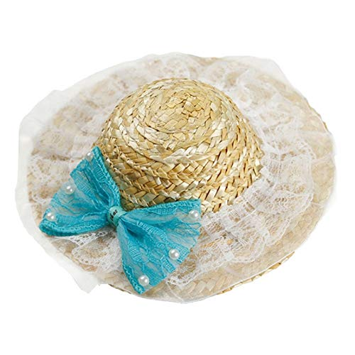 Culturemart New Fashionable Pet Sun Hat Handcrafted Woven Hawaii Style Adjustable Pets Dog Puppy Caps Cute Straw Hat Pet Accessories