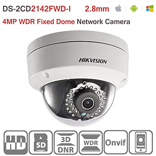 - Hikvision IP Camera DS-2CD2142FWD-I 4MP 2.8mm WDR Fixed Dome Network Camera PoE IR Day/Night IP67 Waterproof English Version