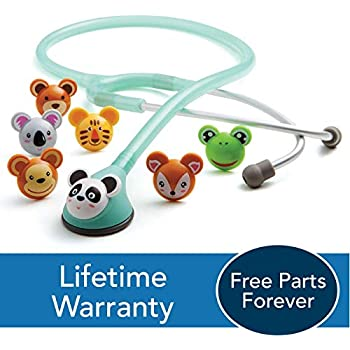 ADC Adscope Adimals 618 Pediatric Stethoscope With Tunable AFD Technology, Seafoam, 10.4 Ounce