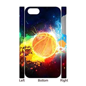 3D Bumper Plastic Case Of Basketball customized case For Iphone 4/4s