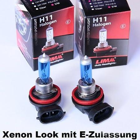 2 X H11 Xenon Look 12v 55w Halogen Lampe Super Weiss Auto