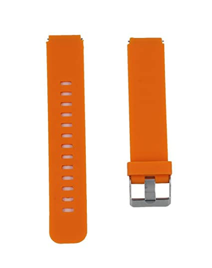 18mm Silicone Quick Release Watch Band Strap Bracelet for Huawei Smart Watch / Huawei Fit Orange