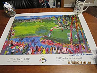 2008 Ryder Cup Leroy Nieman Signed Valhalla Golf Club Kentucky Poster