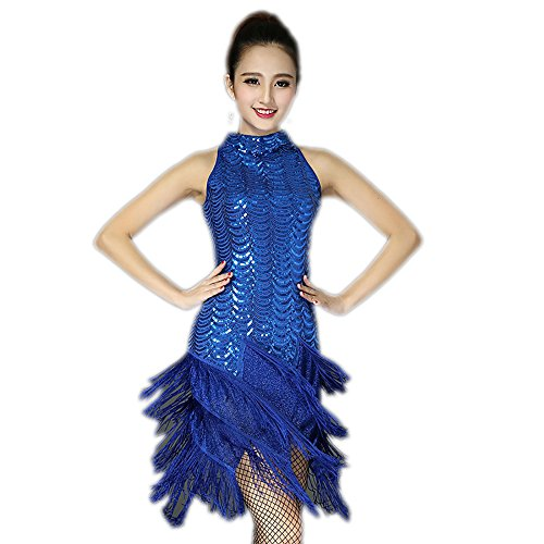 1920 Flapper Girl and Gangster Womens Wedding Dance Dress Costumes Blue (Flapper Girl And Gangster)