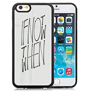 Beautiful Unique Designed iPhone 6 4.7 Inch TPU Phone Case With If Not Now Then When Typography_Black Phone Case