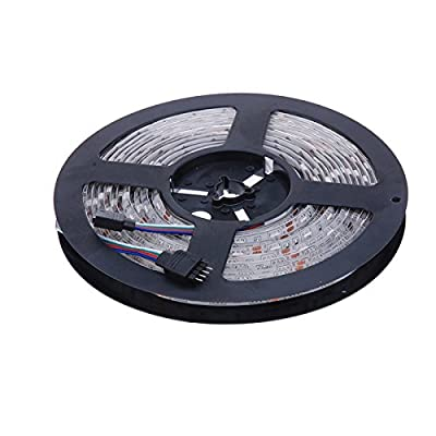Lary intel Led Strip Lights Kit SMD 5050 32.8 Ft (10M) Non-waterproof 300leds RGB 30leds/m with 44key Ir Controller for Trucks Boats Kicthen Bedroom and Sitting Room