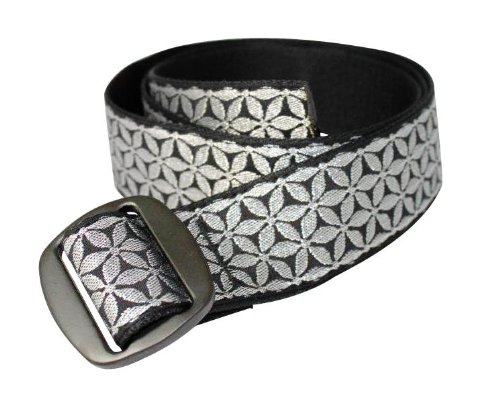Bison Designs Womens Manzo Belt with Anodized Aluminum Buckle Bling Medium38-Inch