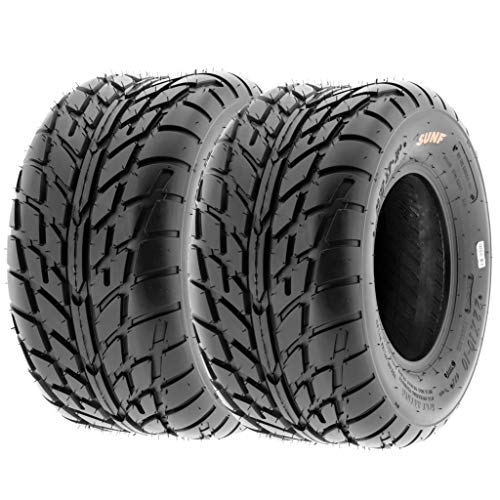 Pair of 2 SunF A021 TT Sport ATV UTV Dirt & Flat Track Tires 225/45-10 (18x9-10), 6 PR, Tubeless (Go Kart Dirt Tires)