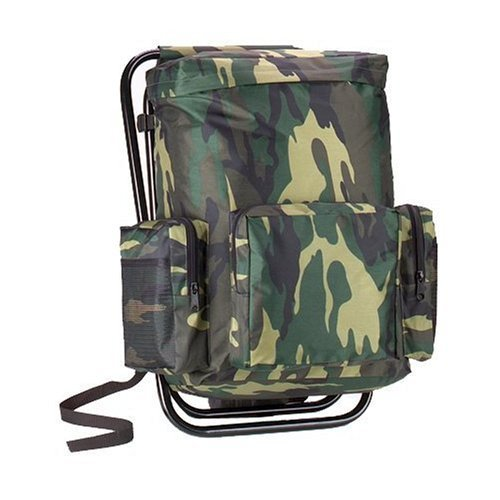 Rothco Woodland Camouflage Backpack and Stool Combination by Rothco