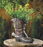 COWBOY BOOT shoe Country western Flower Pot Garden plant Planter yard art statue