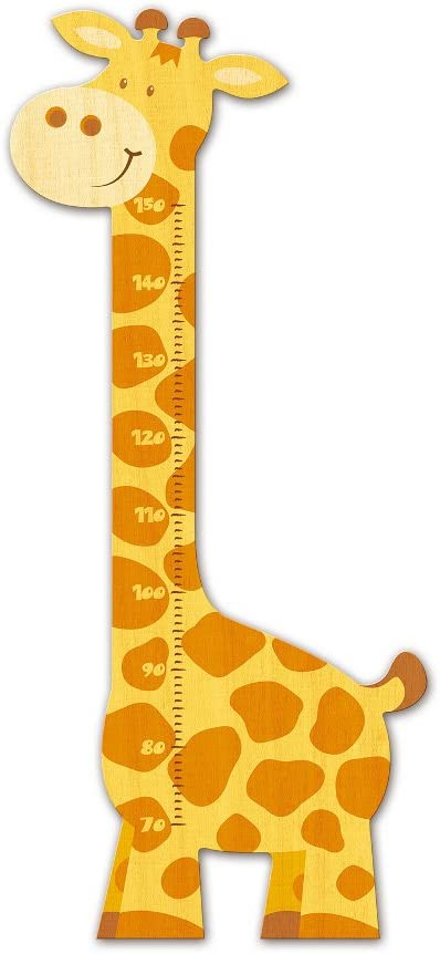 Childrens Wood Wall Growth Measure Measure Height in the Shape of a Giraffe/ /Swiss Quality
