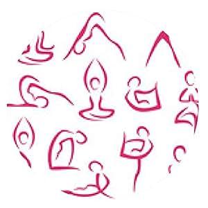 alfombrilla de ratón gran conjunto de símbolos de la yoga - ronda - 20cm