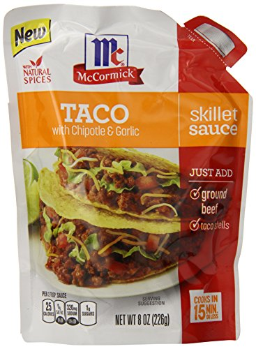 Mccormick skillet sauce taco 8 ounce pack of 6 food beverages tobacco food items prepared - Sauce pour tacos ...