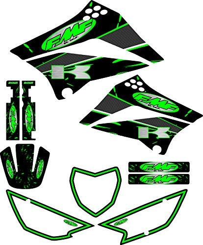 - FMF Exhaust Graphics fit Kawasaki KLX 110 10-18 Graphic Kit Sticker KLX110 Green