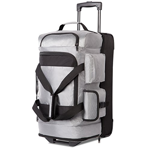 Coolife Rolling Duffel Travel Duffel Bag Wheeled Duffel Carry-on/Cabin Size 8 (Split Roller Travel Bag)