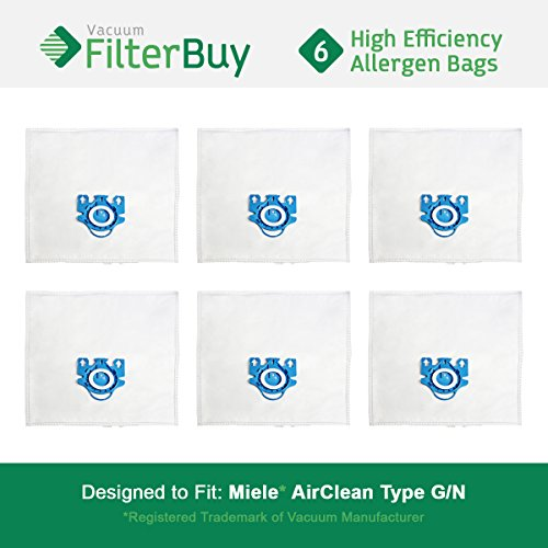 6 - FilterBuy Miele GN Replacement Vacuum Bags. Miele Parts