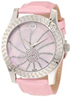 Brillier Women's 03-42327-05 Kalypso Silver-Tone Pink Leather Watch from Brillier