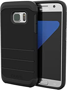S7 Case, Crave Strong Guard Protection Series Case for Samsung Galaxy S7 - Black