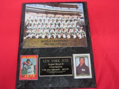 - New York Jets Super Bowl III Champions 2 Card Collector Plaque #1 w/8x10 Photo