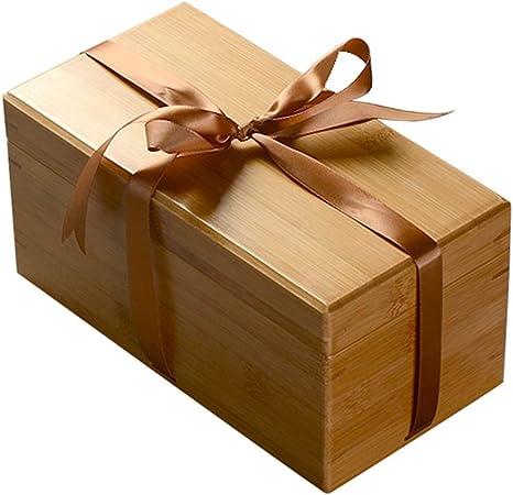 LXDDP Joyero, Caja Madera bambú Caja Regalo Escritorio Caja ...