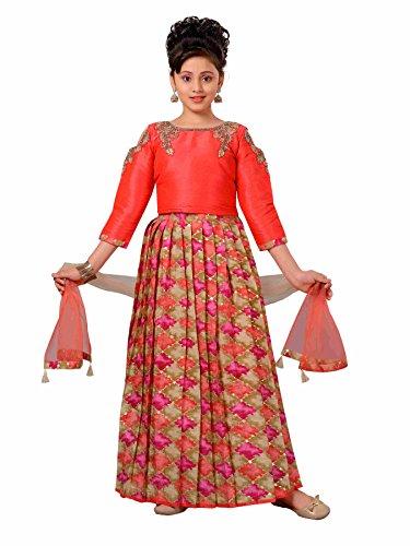Adiva Girl's Indian Party Wear Lehenga Choli for Kids (Choli Suit)