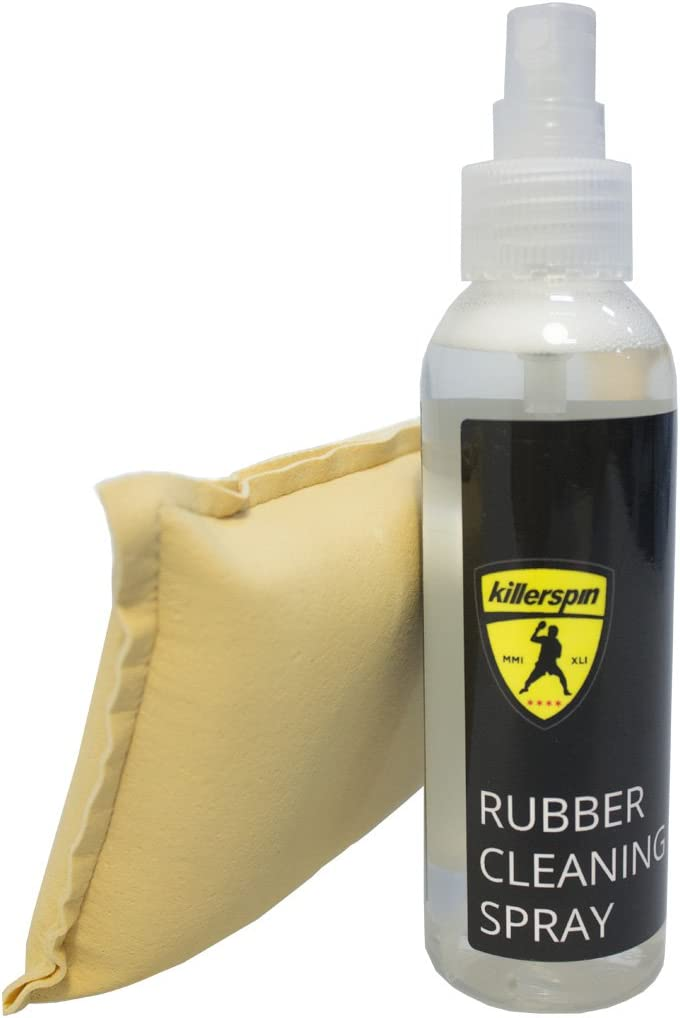 Killerspin Rubber Cleaning Tenis de Mesa – Spray Limpiador Kit, Unisex-Adult, Negro, One Size