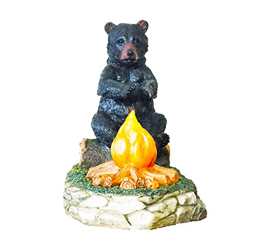 Large Black Bear By The Campfire Table Night Light - Rustic, Cabin, Lodge, Country Decor by DeLeon Collections (Image #8)
