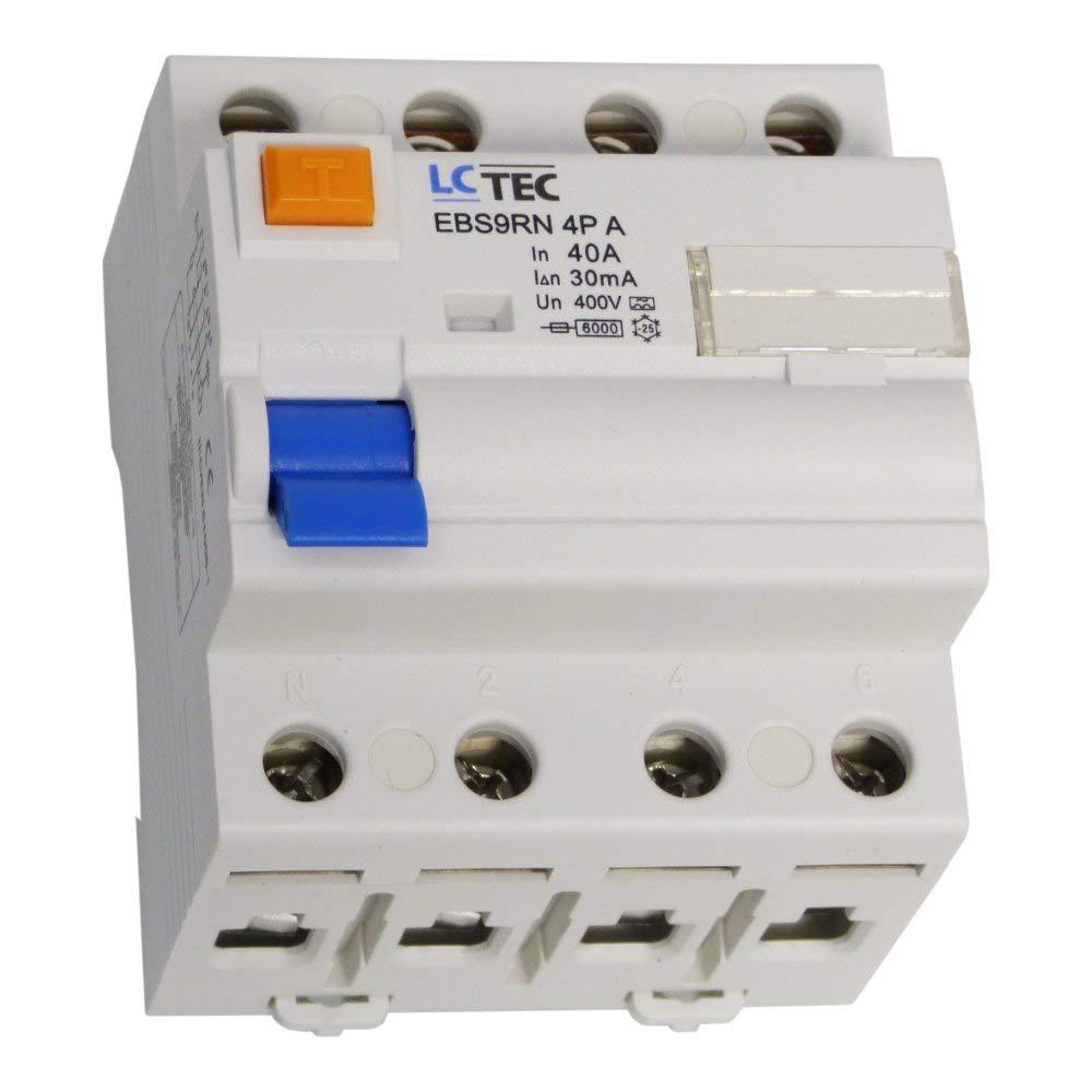 LC Interrupteur Fi 40A 30mA 4 Broches Type A Fi-Disjoncteur A Rccb EBS9RN LC 1508