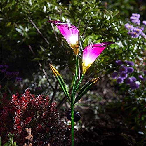 Smart Garden Solar Light Up LED Garden Pink Purple Lily Flower | Calla Lily Patio Outdoor Lighting by Smart Garden