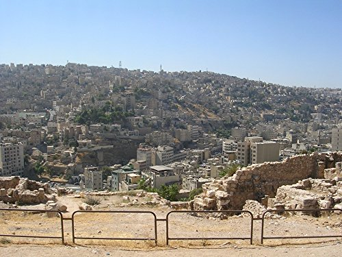 Home Comforts Peel-n-Stick Poster of Ruin Jordan Middle East Travel Citadel Hill Amman Poster 24x16 Adhesive Sticker Poster Print -