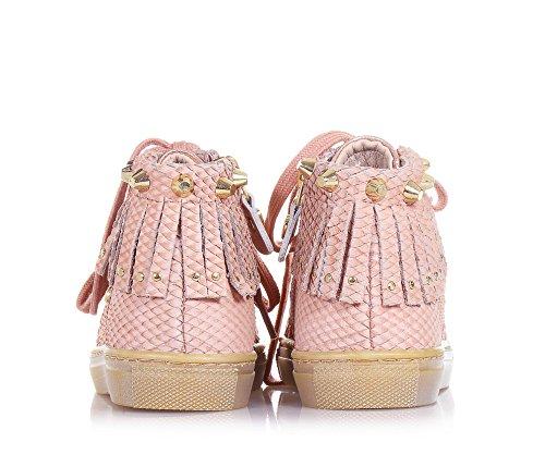 Italy lacets un Rose design typique rose qui in en est à unique Sneaker SET du cuir Made avec Filles TWIN t8nqTgAH