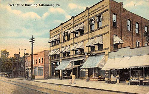 Kittanning Pennsylvania Post Office Bldg Street View Antique Postcard K105785