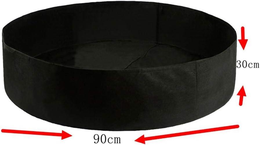 Yardwe Pianta Crescere Borse Feltro Rotondo Contenitore di vasi Tessuto aerazione Non Tessuto Intelligente per Giardino e piantare