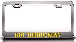 Custom Brother - GOT Turducken? Food Vegetable Fruit Metal Car SUV Truck License Plate Frame Ch g13