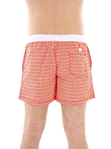CMP Badehose Bermuda Swimwear rot Muster Tunnelzug kurz Taschen Gr. 50 3R51667