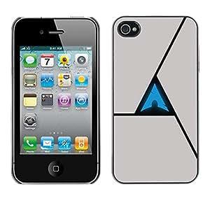 TECHCASE**Cubierta de la caja de protección la piel dura para el ** Apple iPhone 4 / 4S ** Triangle Abstract