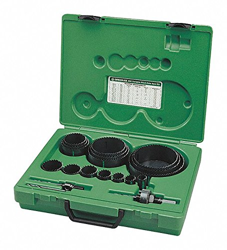 20-Piece Maintenance Hole Saw Kit for Metal, Range of Saw Sizes: 3/4'' to 4-3/4''