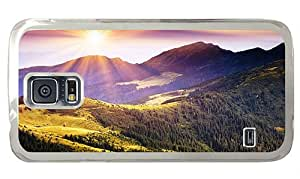Hipster Samsung Galaxy S5 Case amazing mountains sunshine PC Transparent for Samsung S5