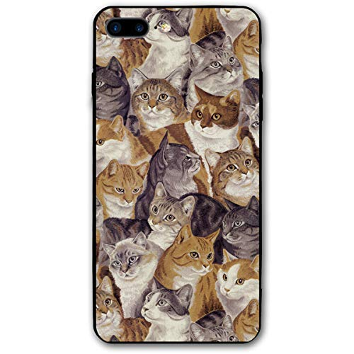 8S Plus iPhone Case,8 Plus Full Body iPhone Case,7 Plus Rugged Phone Case,8 Plus Halloween Case,8 Plus Protector Case,Dust Proof,Packed Cats -