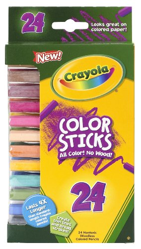 Crayola 24 Ct Color Stick Pencils,  24 Assorted Colors (68-2324)