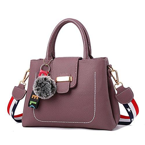 DHFUD Bolso De Hombro De La Mujer Bolso De La Bolsa De Mensajero Ambiente Personalizado De La Moda Purple