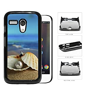 Pearl In Clam Seashell Beach Scenery Hard Plastic Snap On Cell Phone Case Motorola Moto G