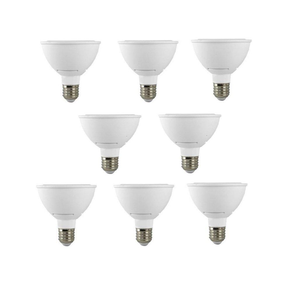 8 Pack 11 Watt Dimmable PAR30 LED Light Bulb 2700K Warm White 75W Equivalent E26