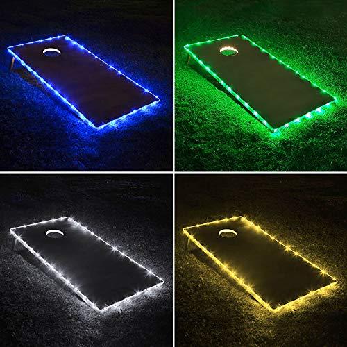 TongYu Set of 2 Cornhole Board Edge Night Lights,Long Lasting (72+ Hours) Great for Tailgates Backyard/Lawn Wedding BBQ & ()