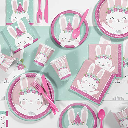 Bunny Party Birthday Party Supplies Kit, Serves 8